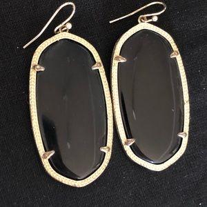 Kendra Scott Elle Drop Earrings in Black